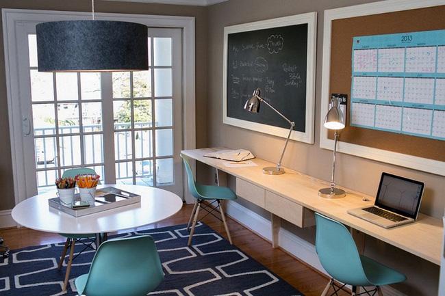 Cách sử dụng bảng đen để thiết kế góc làm việc tại nhà-8