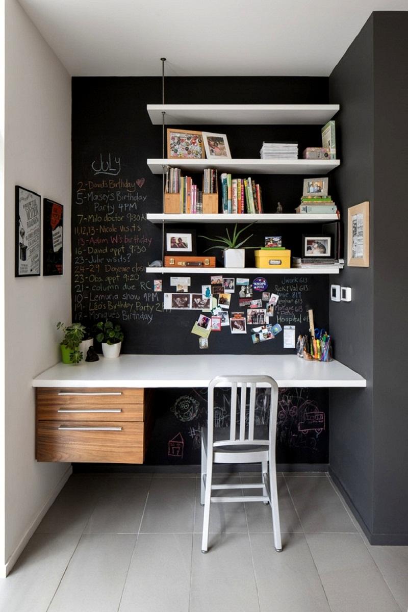 Cách sử dụng bảng đen để thiết kế góc làm việc tại nhà-1