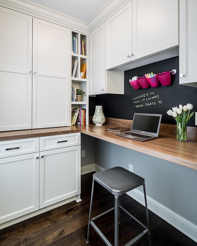 Cách sử dụng bảng đen để thiết kế góc làm việc tại nhà-7