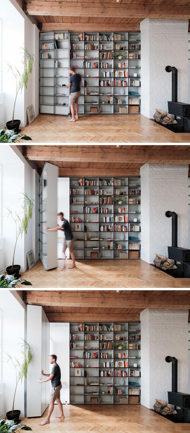 Sử dụng cửa bí mật để tạo không gian riêng tư trong văn phòng làm việc-3