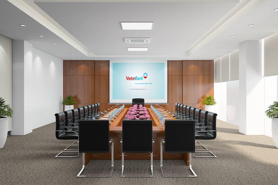 Thiết kế thi công nội thất văn phòng ngân hàng Viettinbank Hà Giang-4