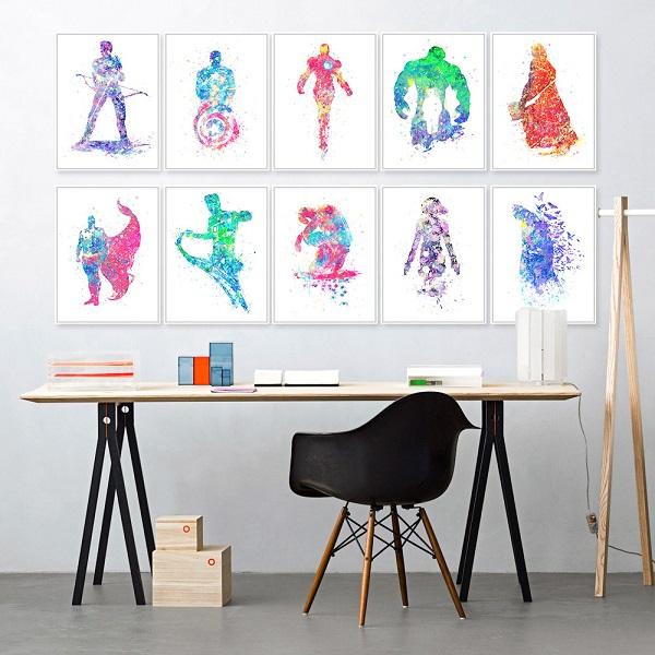 Phong thủy tranh treo tường trong thiết kế nội thất văn phòng