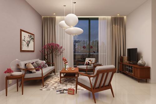 Kết quả hình ảnh cho thiết kế nội thất theo phong cách phương đông