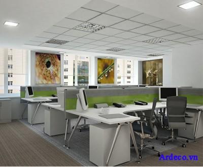 Thiết kế nội thất phòng nhân viên hiện đại