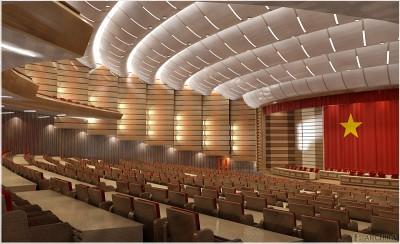 Thiết kế nội thất phòng hội trường sang trọng hiện đại