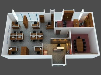 Thiết kế văn phòng phối cảnh 3D