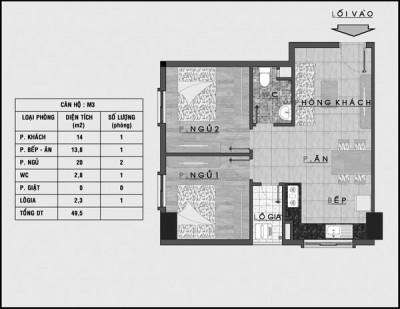 Tư vấn bố trí nội thất căn hộ chung cư 50m² cho gia đình 4 người