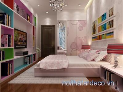 Thiết kế nội thất căn hộ trang nhã-  anh Hùng