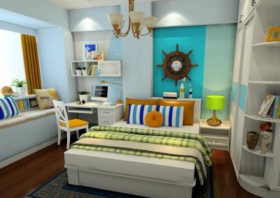 Thiết kế nội thất phòng ngủ thú vị mang màu sắc ấn tượng