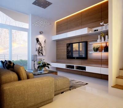 Thiết kế nội thất biệt thự mini với  không gian chức năng ấn tượng