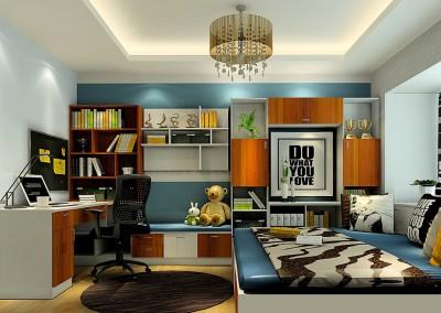 Thiết kế nội thất phòng làm việc kết hợp phòng ngủ tại nhà