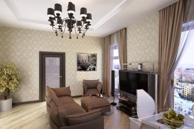 Thiết kế nội thất chung cư nhỏ với 3 căn phòng chức năng