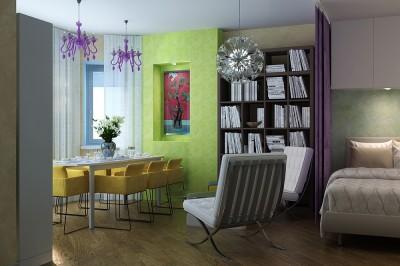 Thiết kế nội thất chung cư 30m2 dành cho người độc thân ấn tượng