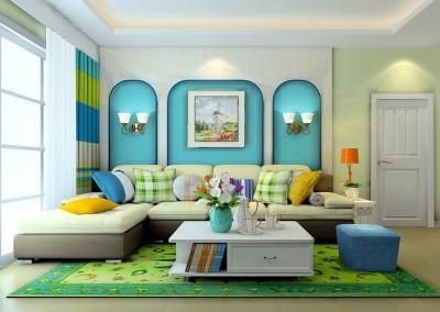 Thiết kế nội thất phòng khách mang phong cách tân cổ điển