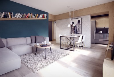 Thiết kế nội thất chung cư nhỏ ở Cầu giấy, Hà Nội