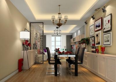 Thiết kế nội thất chung cư ấn tượng với sắc đỏ