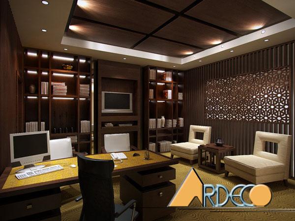 Thiết kế nội thất phòng giám đốc công ty Luật