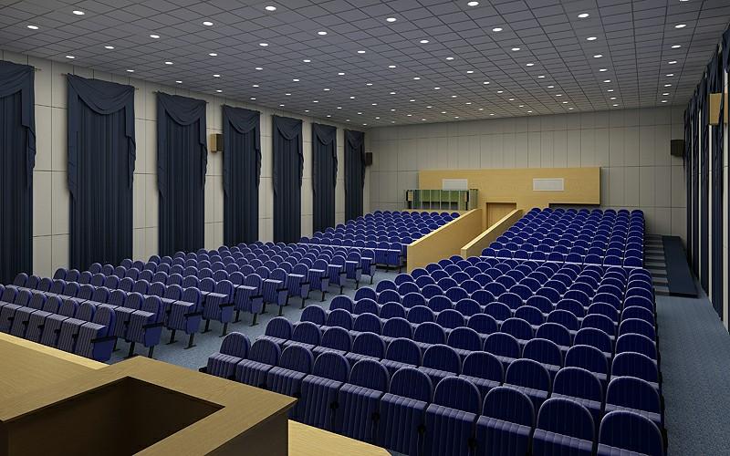 Thiết kế phòng hội trường với chức năng chính là tổ chức hội thảo