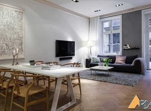 Thiết kế nội thất căn hộ chung cư 86m2 đẹp lung linh