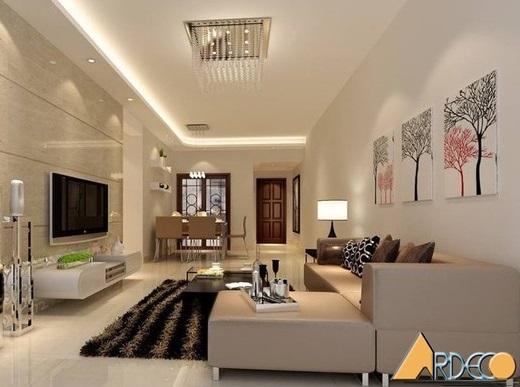 Thiết kế nội thất căn hộ chung cư 70m2 đẹp hiện đại