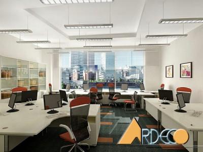 Thiết kế văn phòng làm việc nhân viên năng động hiện đại
