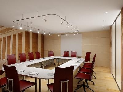 Thiết kế phòng họp đơn giản nhưng tiện lợi