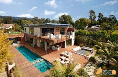 Dự án thiết kế kiến trúc ngoại thất phòng khách cho biệt thự 2 tầng ở Đà Nẵng