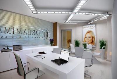 Thiết kế nội thất văn phòng công ty mỹ phẩm