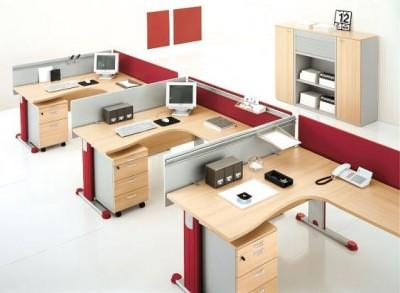 Thiết kế phòng nhân viên với bàn làm việc ấn tượng