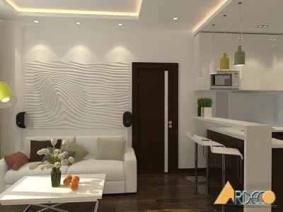 Thiết kế phòng khách chung cư 151 NDC diện tích 40m2