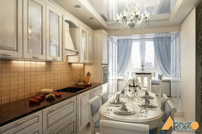 Thiết kế nội thất phòng bếp dự án Chung cư Sky City gia đình Anh Mạnh Chị Nhung