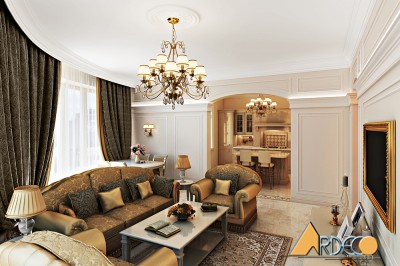 Thiết kế nội thất phòng khách ấn tượng tại Royal City
