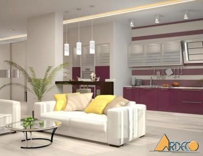 Thiết kế phòng khách chung cư 50m2-Chung cư Nam Đô