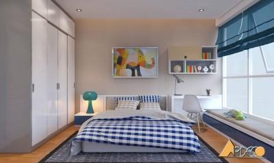Thiết kế nội thất phòng ngủ giản đơn với chi tiết trang trí nghệ thuật độc đáo