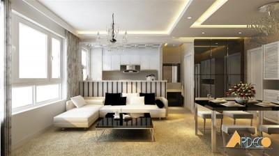 Thiết kế phòng khách chung cư Hp Landmark Lê văn lương