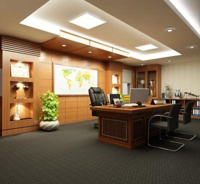 Thiết kế nội thất phòng làm việc giám đốc hợp phong thủy