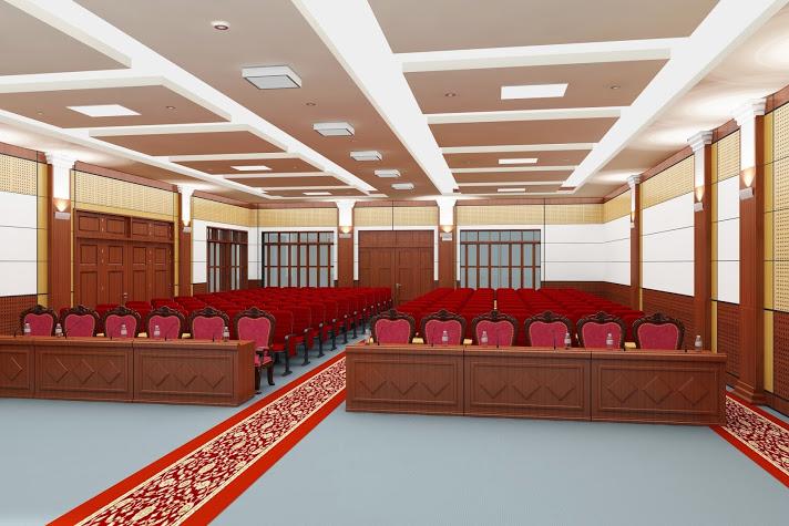 Thiết kế hội trường UBND Xã