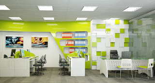 Các mẫu thiết kế văn phòng hiện đại và độc đáo