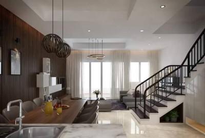 Thiết kế nội thất căn hộ liền kề đơn giản không kém phần sang trọng