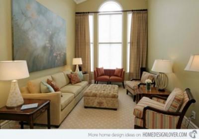 10 mẫu thiết kế phòng khách nhỏ xinh ấm áp