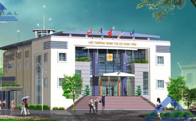 Thiết kế thi công hội trường ủy ban nhân dân thị xã Phúc Yên