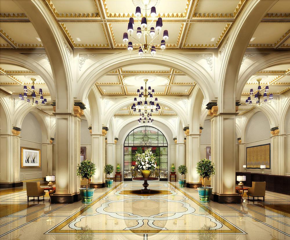 Những mẫu thiết kế sảnh khách sạn đẹp sang trọng