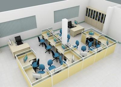 Thiết kế thi công nội thất văn phòng nằm trong căn hộ chung cư