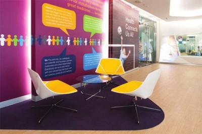 Thiết kế văn phòng trong lĩnh vực giáo dục ngập tràn màu sắc