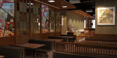 Thiết kế nhà hàng nhật  không gian mới
