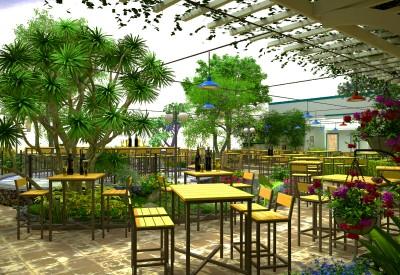Các mẫu thiết kế nhà hàng sân vườn đẹp