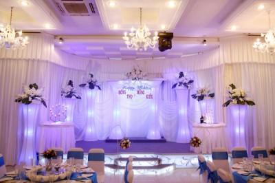 Nhà hàng tiệc cưới thiết kế theo phong cách hiện đại