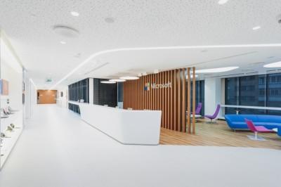 Thiết kế văn phòng trung tâm công nghệ microsoft tại Nga
