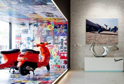 Giới thiệu phong cách đậm chất Ý trong thiết kế Showroom xe máy Vespa