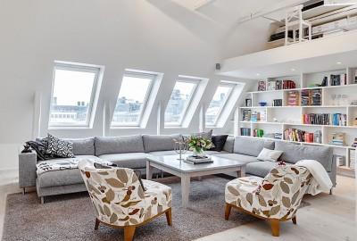 Cách sử dụng tầng gác mái để thiết kế phòng làm việc tại nhà thật đẹp và nổi bật